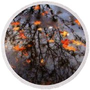 Autumns Looking Glass 3 Round Beach Towel