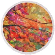Autumns Splendorous Canvas Round Beach Towel