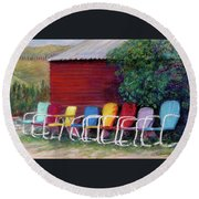 Available Seating Round Beach Towel