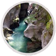 Avalanche Creek Glacier National Park Round Beach Towel