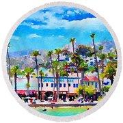 Avalon Waterfront, Catalina Round Beach Towel