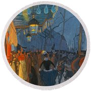 Avenue De Clichy. Five O'clock In The Evening Round Beach Towel