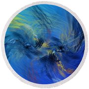 Avian Dreams 4 - Mating Rituals  Round Beach Towel