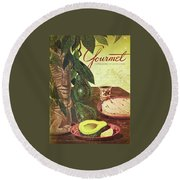 Avocado And Tortillas Round Beach Towel