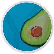 Avocado On The Side Round Beach Towel