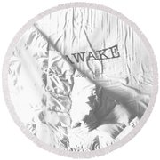 Awake Round Beach Towel