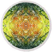 Awakened For Higher Perspective #1425 Round Beach Towel
