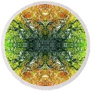 Awakened For Higher Perspective #1426 Round Beach Towel