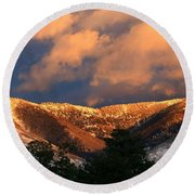 Awesome Light Of New Mexico Round Beach Towel