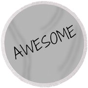 Awesome Round Beach Towel