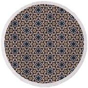 Awesome Mosaic Pattern Round Beach Towel
