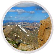 Awesome View From The Mount Massive Summit Round Beach Towel
