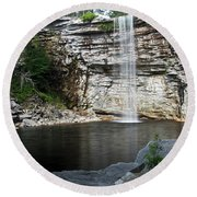 Awosting Falls In July II Round Beach Towel