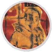 Axeman 16 Round Beach Towel