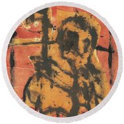 Axeman 2 Round Beach Towel