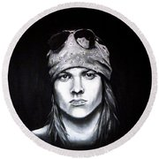 Axl Rose - Welcome To The Jungle Round Beach Towel