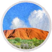 Ayers Rock Round Beach Towel