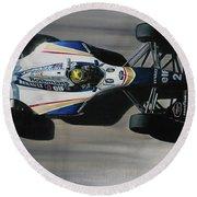 Ayrton Senna - Williams Renault Fw16 Round Beach Towel