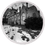 Aysgarth Church Round Beach Towel