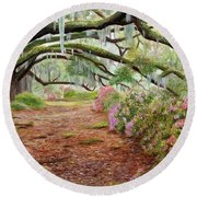 Azalea Alley Round Beach Towel