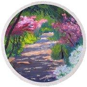 Azalea Path - Sayen Gardens Round Beach Towel