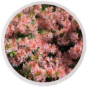 Azalea Wall Round Beach Towel