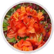 Azaleas Rhodies Art Prints Azalea Flowers Giclee Baslee Troutman Round Beach Towel