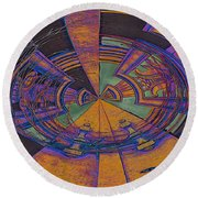 Aztec Abstract Round Beach Towel