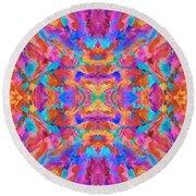 Aztec Kaleidoscope - Pattern 030 Round Beach Towel