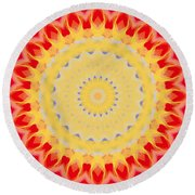 Aztec Sunburst Round Beach Towel