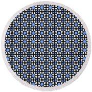 Azulejos Magic Pattern - 05 Round Beach Towel