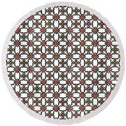 Azulejos Magic Pattern - 06 Round Beach Towel