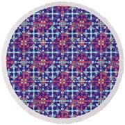 Azulejos Magic Pattern - 07 Round Beach Towel