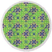 Azulejos Magic Pattern - 08 Round Beach Towel