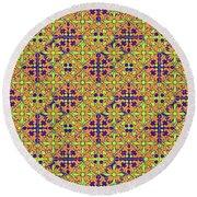 Azulejos Magic Pattern - 09 Round Beach Towel