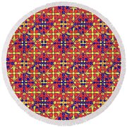 Azulejos Magic Pattern - 10 Round Beach Towel