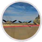 B-17 Flying Fortress Round Beach Towel