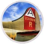 B-17 Tail Wwii Round Beach Towel