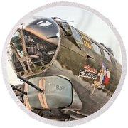 B-17 Texas Raiders Round Beach Towel