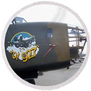 B-24 Nose Art Round Beach Towel