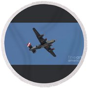 B-24j Liberator Wwii Fighter Round Beach Towel