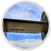 B-24j Tail  Round Beach Towel