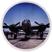 B-25 Bombers Round Beach Towel