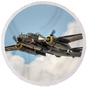 B-25 Georgie's Gal Round Beach Towel