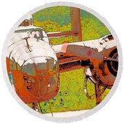 B-25 Red B Round Beach Towel