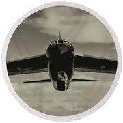 B-52 Stratofortress Triptych - 2 Round Beach Towel