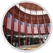 B And O Museum Roundhouse In Baltimore Maryland Round Beach Towel