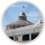 B And O Railroad Museum In Baltimore Maryland Round Beach Towel