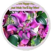 B Exton  Flowering Of Delights  Bigstock 164301632  2991949 Round Beach Towel