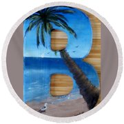 B For Brooke Round Beach Towel